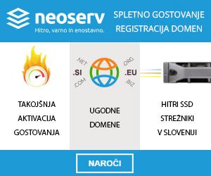 Spletno gostovanje NEOSERV