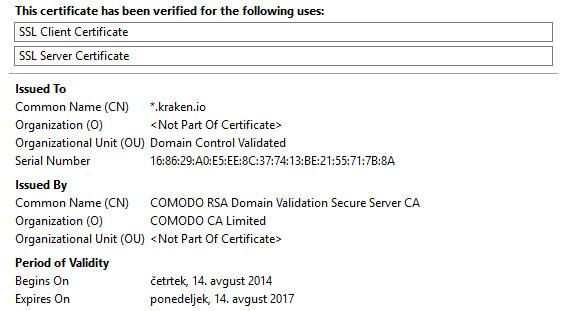 Domenski SSL certifikat