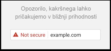 Novo varnostno opozorilo v brskalniku Google Chrome