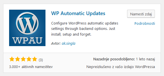 WP Automatic Updates
